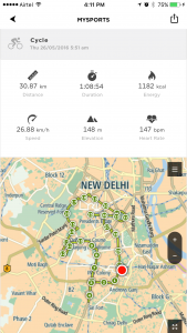 Tomtom Spark Ride Stats
